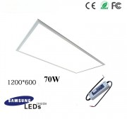 70W 12060 led panel light fixture with Samsung 5630SMD, TUV led driver, 4ftx2ft