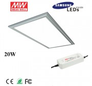 20W 6030 led square ceiling light with Samsung 5630SMD, meanwell led driver, 2ftx1ft