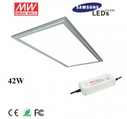 42W 6030 led panel light fixture with Samsung 5630SMD, meanwell led driver, 2ftx1ft