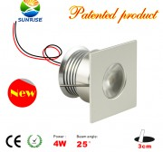 4 Watt LED recessed light fixture without power supply