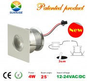 4 Watt led recessed light fixture with power supply