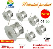 4W dimmable under cabinet recessed light kit-6 pieces, warm white/natural white