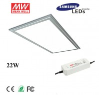 22W 6030 led panel light fixture with Samsung 5630SMD, meanwell led driver, 2ftx1ft