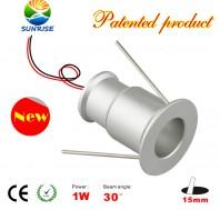 1 Watt LED miniature Recessed Light Fixture