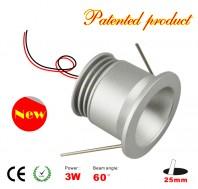 3 Watt LED mini flush light panel without power supply