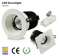 led recessed downlight, 2.5inch, 12W, 3000K