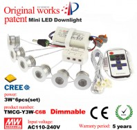 2016 updated 3W LED dimmable mini recessed downlight kit