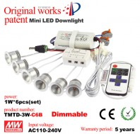 1W LED dimmable mini recessed downlight kit