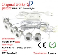 2016 updated 3W led mini recessed spotlight kit