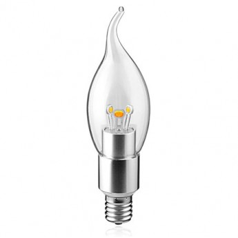3w/4w white E14 dimmable bent tip Chandelier led light bulb