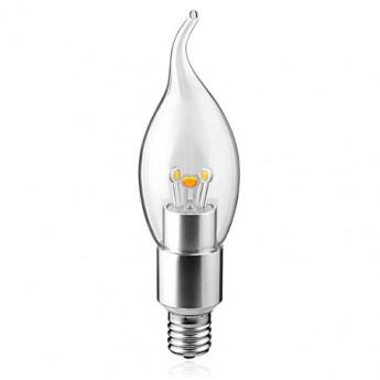 3w/4w white E14 dimmable bent tip Chandelier led light bulb