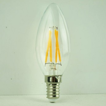 2700K warm white 4 watt blunt tip led filament bulbs with 110V/220V
