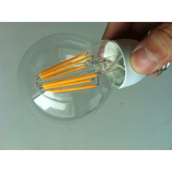 6w A19 decorative led filament bulb/warm soft white led bulb(2700K)