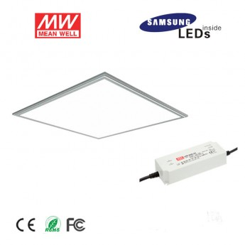 2ft x 2ft 42W led panel light fixture with (3 in 1)dimmable meanwell power supply