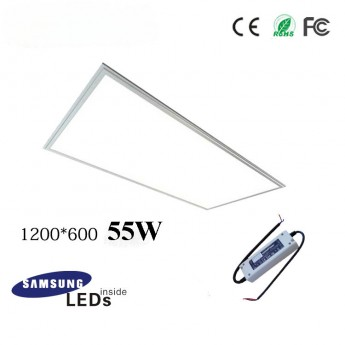 55W 12060 led panel light fixture with Samsung 5630SMD, TUV led driver, 4ftx2ft