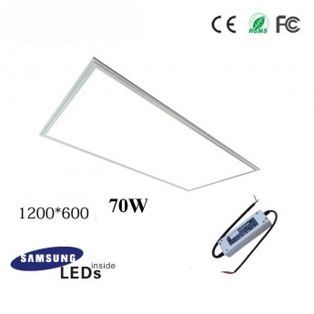 70W 12060 led slim panel light fixture with Samsung 5630SMD, TUV led driver, 4ftx2ft