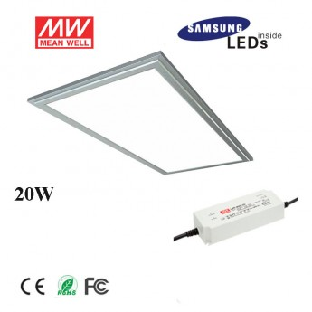 20W 6030 led panel light fixture with Samsung 5630SMD, meanwell led driver, 2ftx1ft