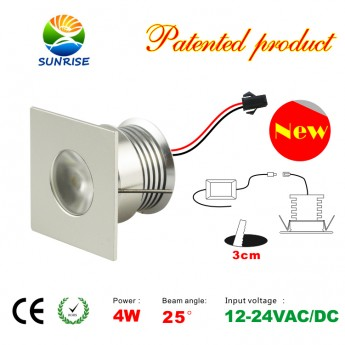 4 Watt led recessed light fixture with power supply