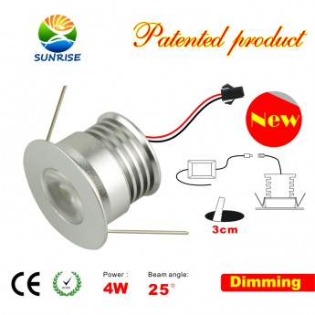 4W dimmer led recessed & puck lights fixture