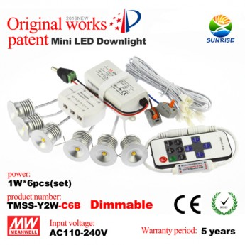 1W led dimmable mini recessed downlight kit-Taiwan Wafer chip leds, meanwell driver
