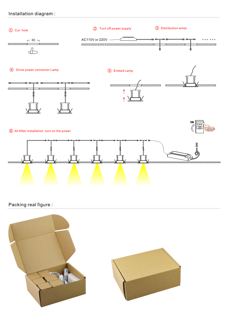 4w Dimmable Under Cabinet Recessed Light Kit 6 Pieces Warm White Wiring Diagram Together With Led Lighting Puck Fixture Natural