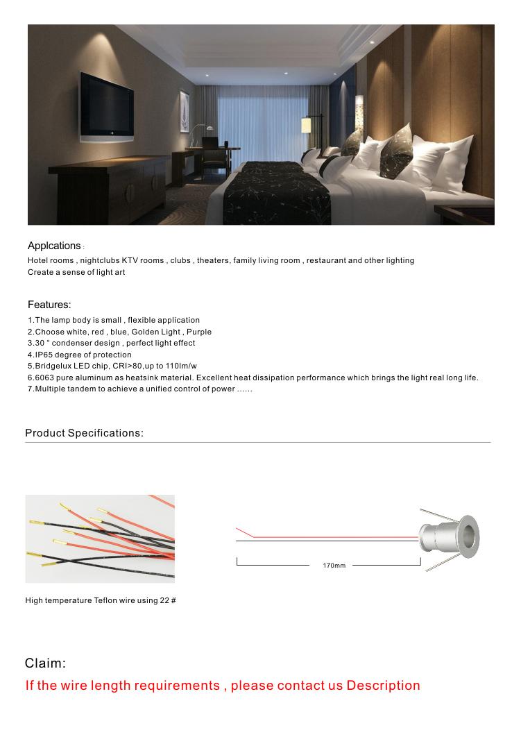 watt led miniature recessed light fixture sunrise