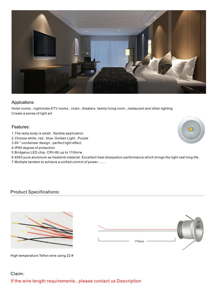 3 Watt LED mini flush light panel without power supply-Sunrise